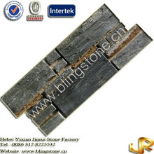 Black Slate Panel Culture Stone Wall Facade Tiles