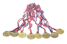Children Gold Plastic Winners Medals Sports Day Party Bag Prize Awards Toys For party decor