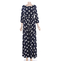 Guangzhou Factory Women Dots Polka Pots Long Sleeve Maxi Dress