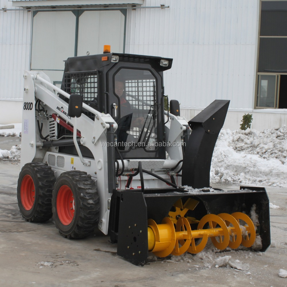 WECAN skid steer loader with snow blower