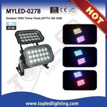 Charming Mixing Color 36*Tri-3W RGB 120W ip66 led flood light