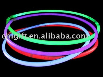 "22"" Lite-rope Glow necklace mixed colours in cylinder of 50"