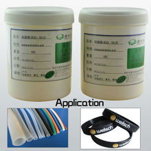Silicone heat-set adhesive silicone rubber compound