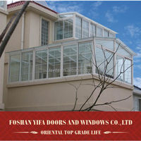 High quality balcony roof glass aluminum extrusion lowes sunrooms