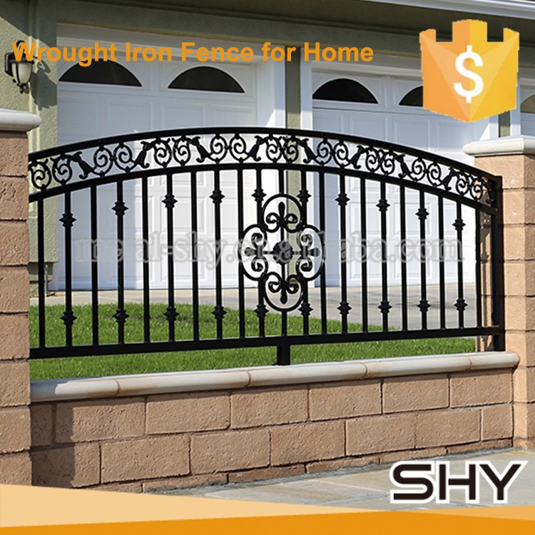 Wrought iron gate outdoor indoor design scrolls flowers for Indoor gate design