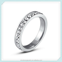 New arrival wholesale jewelry stainless steel cheap diamond ring for girls and boys