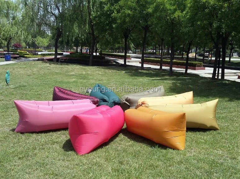 High Quality Stock Promotion 100% Nylon Lightweight Warm Weather Air Inflating Sleeping Bag
