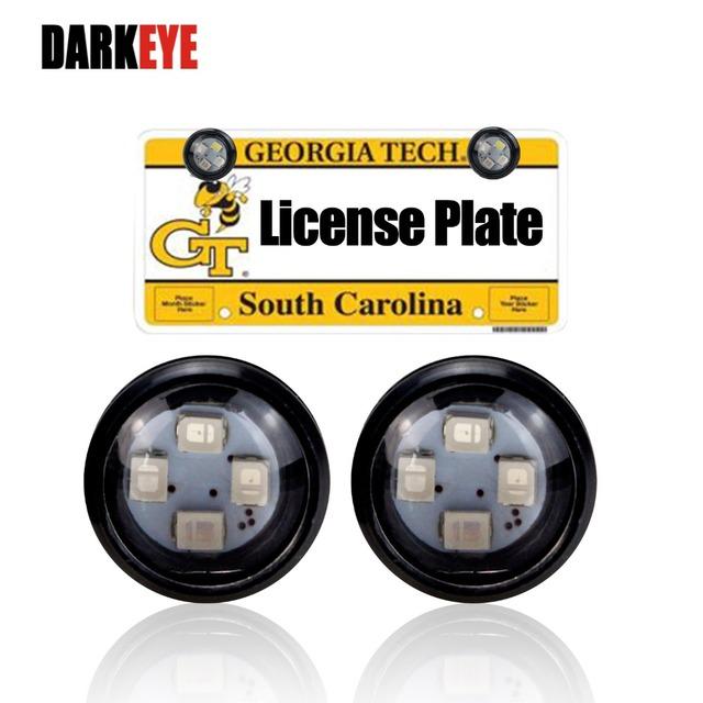 DARKEYE LED DIY Eagle Eye License Plate Flash Warning Light Lamp Waterproof 12V Led Car Styling