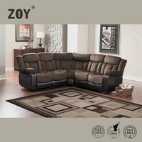 Modern Fabric & PU Sectional Round Corner Sofa Zoy-98950