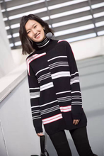Trend 2017 Sinosky modern custom stripes stitching color sweater women