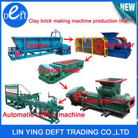 fully automatic fired earth production line /red clay brick making machine in india