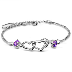 women fashion heart bracelet S925 silver jewelry