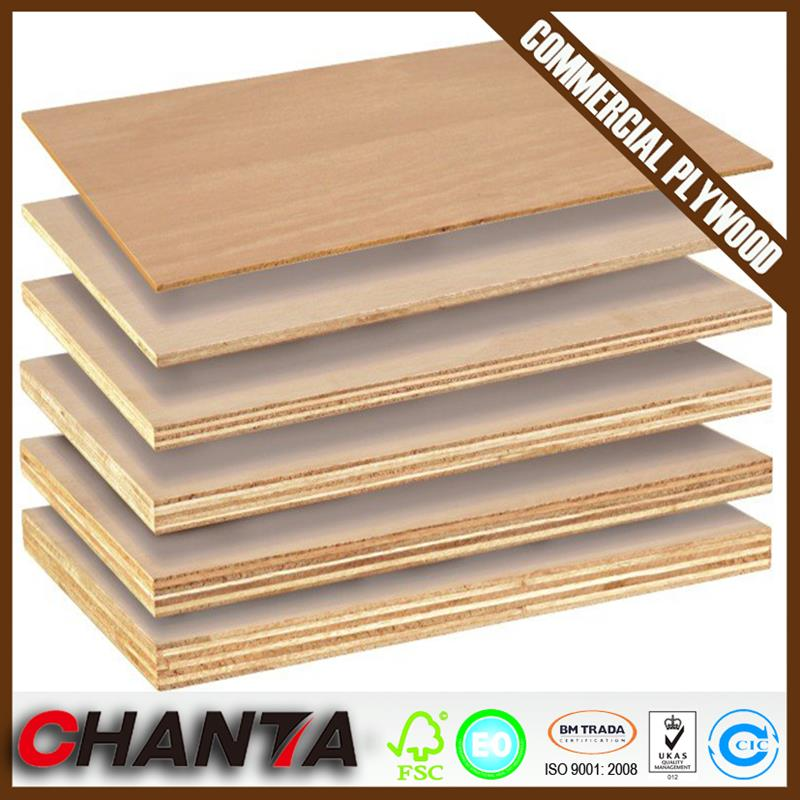 Linyi keruing gurjan face poplar core commercial plywood at wholesale price