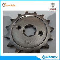 Chinese Zongshen Racing Tricycle 15T standard motorcycle sprocket for RX100