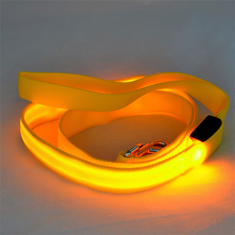 Dog Accessories Hot Selling Doogs In Stock Flash Light Dacron LED Dog Leash