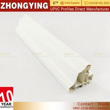 Top Quality Foshan Co-Extruded Pvc Plastic Glass Windows Profiles Color Upvc Casement Series Window And Door Profiles