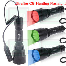 2013 the best selling products in china Ultrafire C8 Cree Q5 LED 500lumens 1 mode Hunting Red LED Flashlight
