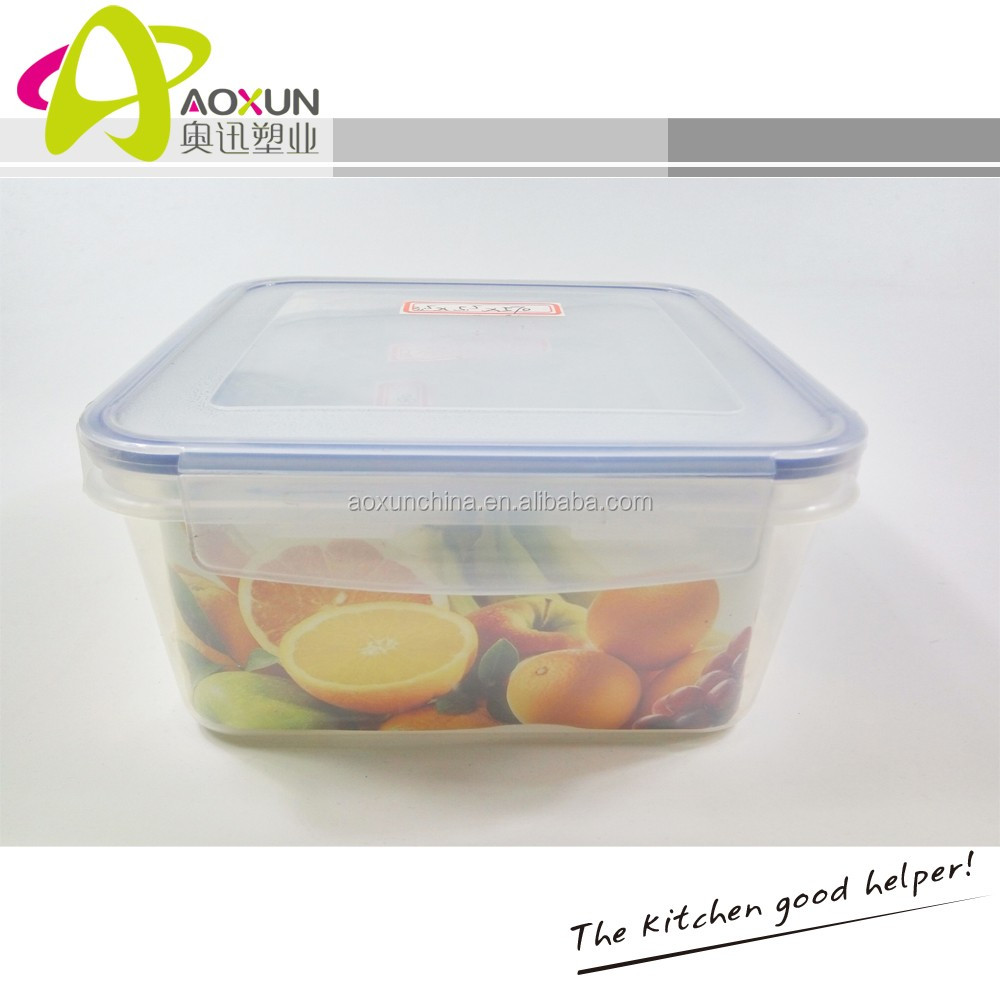 Refrigerator used Plastic Airtight Food Storage Container