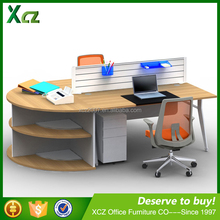 factory supplier cheap boardroom furniture modern office desk with half round cabinet