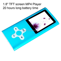 "Portable 1.8""TFT screen free download song mp3 mp4 player with FM stereo radio"