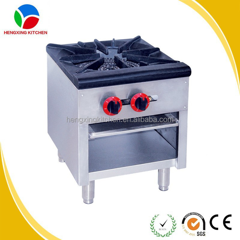 Fashion Stainless Steel Commercial Big Burner Gas Range Stove