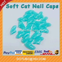 2017 newest color TURQUOISE Anti Scratch Cat Claw Cover /Cat claw caps pet Nail Protector /soft cat nail caps with free glue