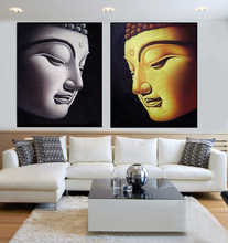 Wall art decor buddha face oil painting on canvas many good design