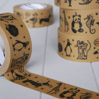 Gummed logo printed whosale high quality kraft paper tape made in China