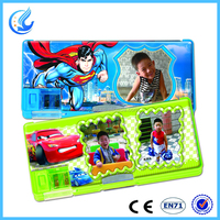 School cute & cool pencil case/box with picture for boys and girls