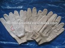 cotton canvas glass working knit wrist gloves