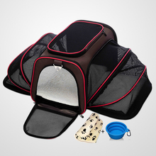 Airline Approved Expandable Pet Carrier with Bonus Blanket & Bowl