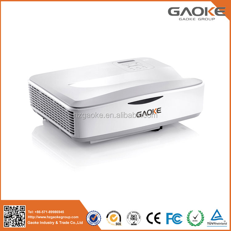 Large screen 3000 lumens to 3500 lumens laser ultra short throw projector