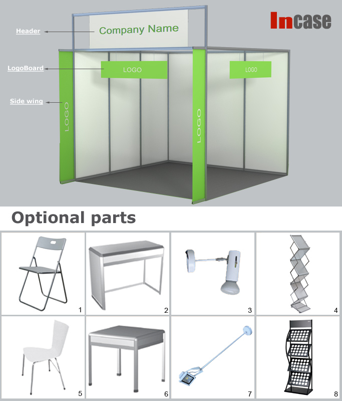 Exhibition Booth Partition : Incase aluminum trade show booth standard partition