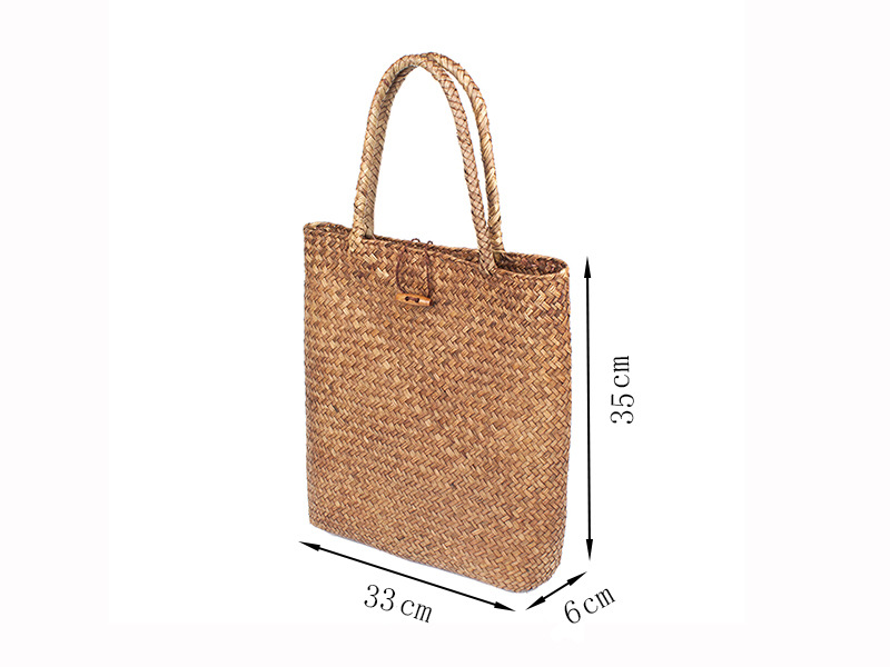 Ins style simple seaweed woven bag