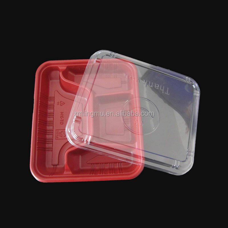2015 hot sale customized disposable blister PET clear plastic food tray.