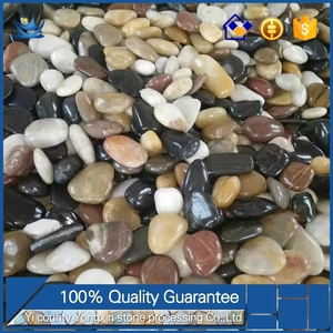 Upscale Polished Natural rusty cheap cobble stone black stones for landscaping