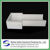 High alumina precast box type filter, Molten aluminum filter box for casting