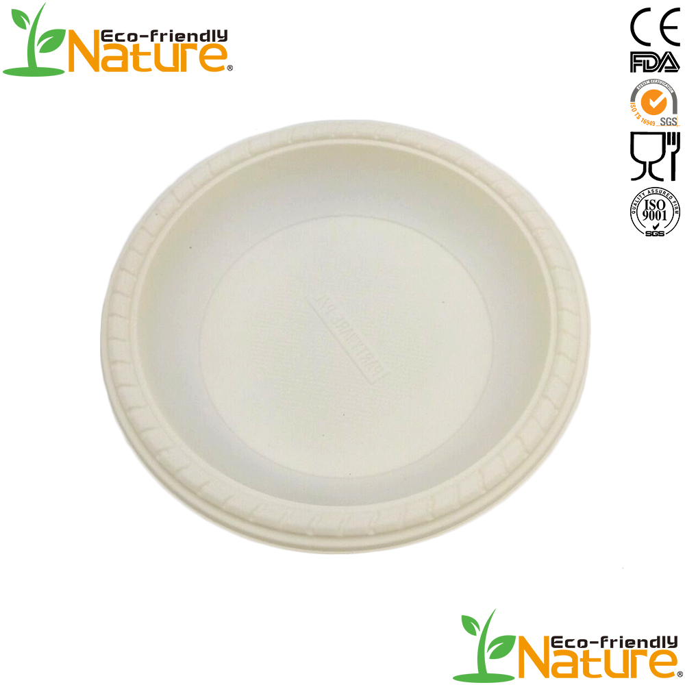 Hefei Pure <strong>Nature</strong> New Products Disposable Plastic Corn Starch Plate