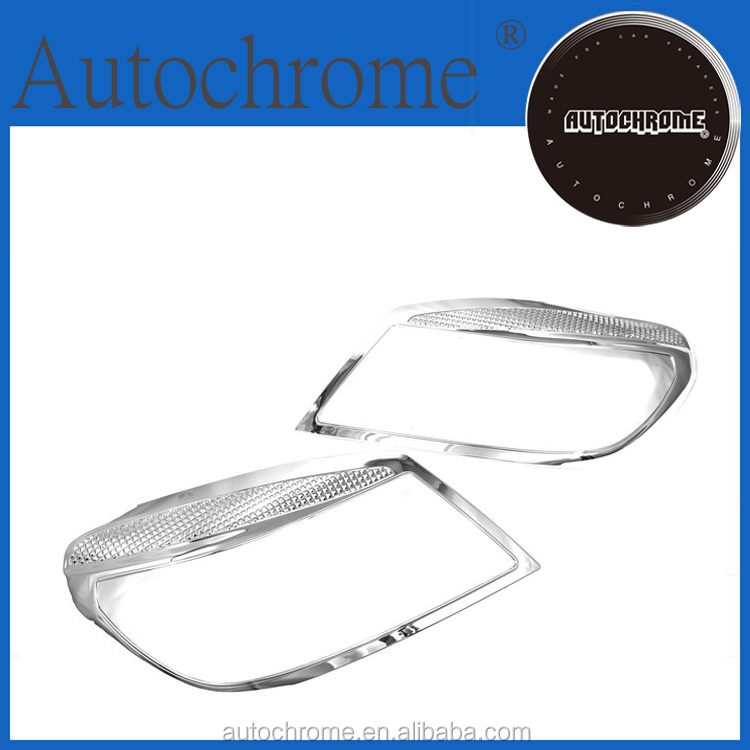Factory price car auto exterior car accessory chrome head light cover for F ord New Ranger 2011 Up