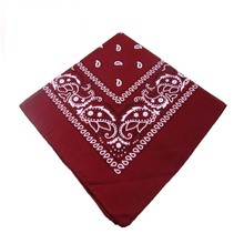 Cheap Wholesale Promotional Custom 100% Square Cotton Printing Bandana Head Kerchief