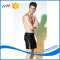 Men's Tight Long Swim Trunks Swimwear with Rubber Print
