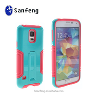 Made in China Hard PC&Soft Silicone 2 in 1 Hybrid with Kickstand Case for S5