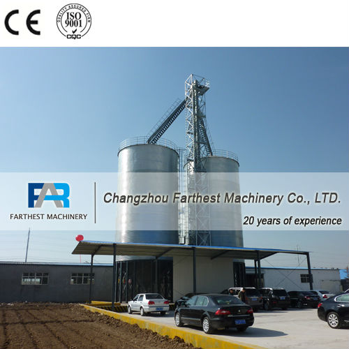Rice Husk Storage Silos For Cattle Feed Plant