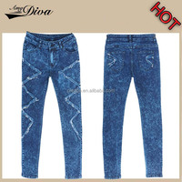 Hot selling new model jeans manufacturers china fashion washed wrinker blue fancy jeans men wholesale