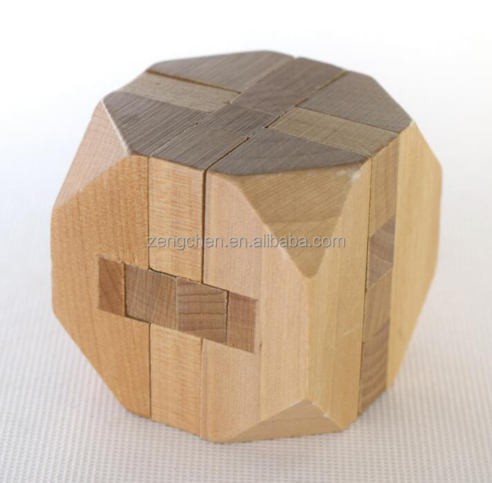 Intellectual Toy Wooden Wood Puzzle Brain Teaser Kong Ming Lock Magic Wooden Cube Puzzle