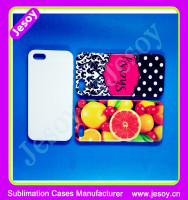 JESOY For iPhone 5c Case 3D Sublimation blanks Hard Phone Back Cover Made in China