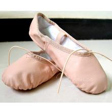 7000039 Manufacturer Wholesale Dance Shoes Leather Split Sole Ballet Shoes