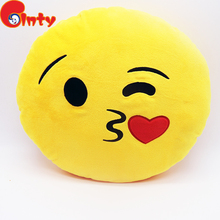 New style factory price cute inflatable travel emoji pillow