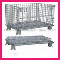 1200*1000*890mm Collapsible and stackable galvanized metal metal storage cage
