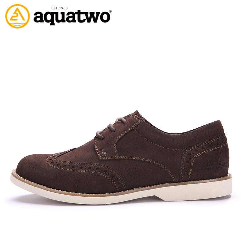 New Style Wholesale Customzie AquaTwo fashionable leather shoes Men Casual Shoes